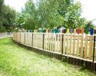 Felújított kerítés